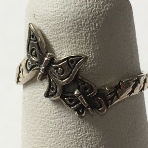 Petite Sterling Silver Butterfly Ring.